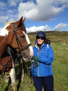 Stacey Stearns with a horse on Dartmoor